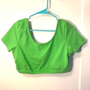 NWOT Urban Outfitters Neon green crop top
